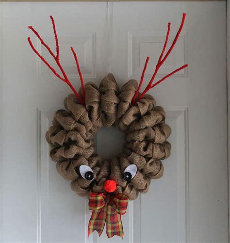 diy burlap reindeer wreath  wreath depot