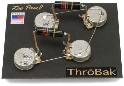 Throbak Les Paul Wiring Harness With Luxe Bumble Bee