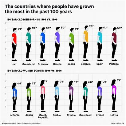 Tall Countries Person Personas Grown Grow Taller