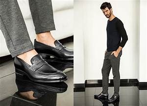 Penny Loafer Shoes in Black Antique