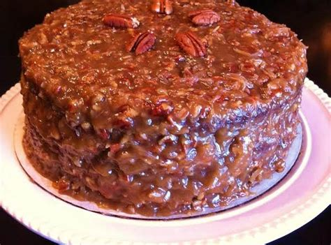 german chocolate cake  coconutpecan frosting recipe