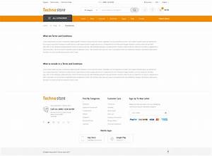 terms and conditions template ecommerce - techno store electronic ecommerce psd by polygontheme