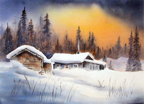winter kreativ  aquarell