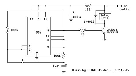 Relay Toggle Circuit Using Timer Control