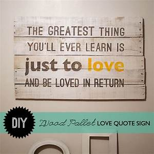 Make Wood Palle... Plank Art Quotes