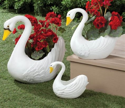 swan planters set   xl fresh garden decor