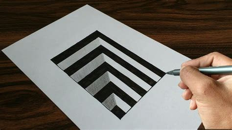 Very Easy Drawing 3d Hole On Paper
