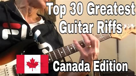 Top 30 Greatest Canadian Guitar Riffs. - YouTube