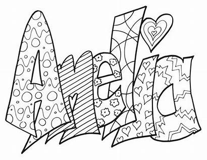 Coloring Pages Names Popular Amelia Printable Colouring