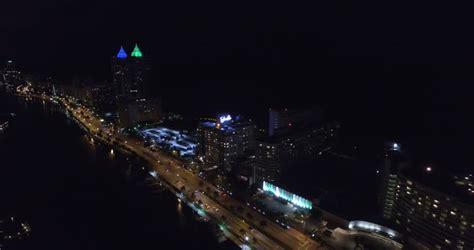 aerial video  miami beach  night stock footage video  shutterstock