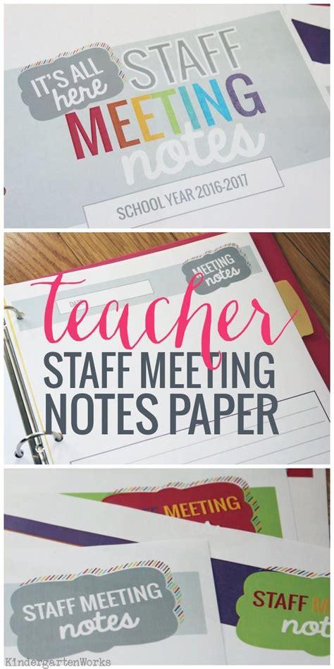 staff meeting notes paper staff meetings preschool