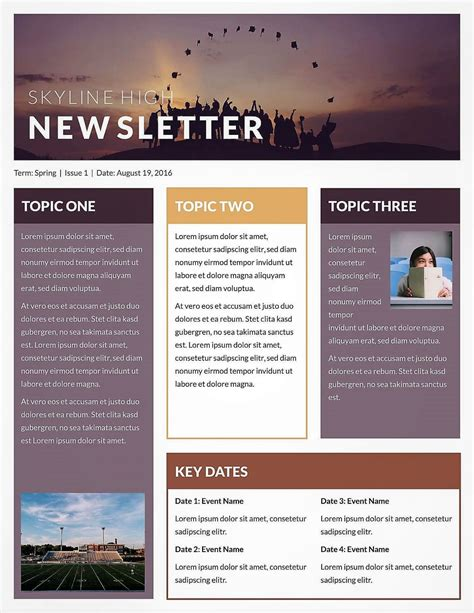 Email Brochure Template Microsoft Newsletter Templates Publisher Free