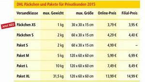 Paket Preis Berechnen : portoerh hung bei der dhl f r 2015 computer bild ~ Themetempest.com Abrechnung