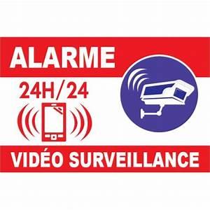 Video Surveillance Maison : panneau en pvc alarme vid o surveillance ~ Premium-room.com Idées de Décoration