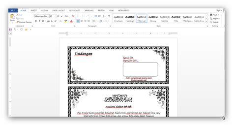 aplikasi cetak undangan otomatis   contoh undangan