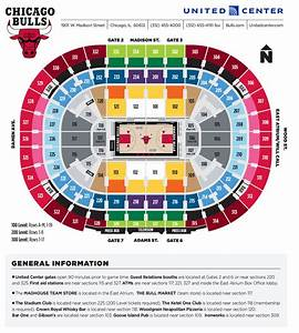 United Center Seating Diagram And Parking