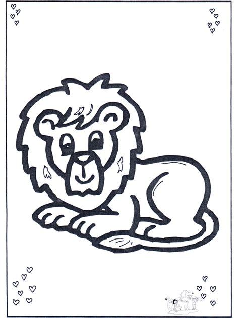 kleuter leeuw kleurplaat dieren