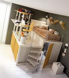 Lit Ado Ikea : lit enfant mezzanine avec bureau ~ Teatrodelosmanantiales.com Idées de Décoration