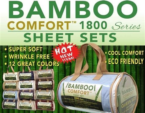 bamboo hotel comfort bed sheet 1800 series size