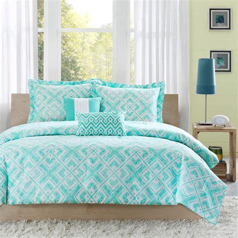 Teal Bedding beautiful chic light blue teal aqua green chevron stripe