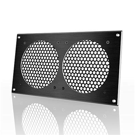 ac infinity ventilation grill for pc computer av electronic cabinets also mounts two 120mm