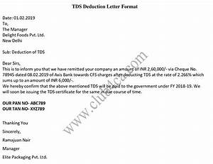 Service Certificate Template For Employees Tds Deduction Letter Format In Word Sample Template Ca