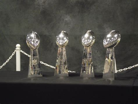 The Green Bay Packers Four Super Bowl Trophies Packer Focus