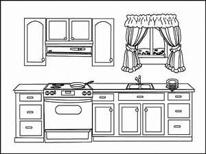 Disegni da colorare i mobili mamma e casalinga for Disegni di cucina