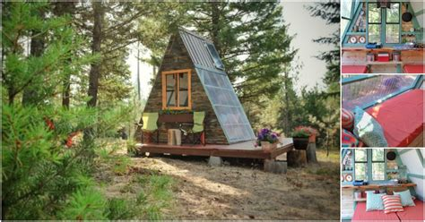 This Tiny A-frame Cabin Took 3 Weeks To Build And Cost