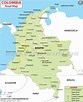 Colombia Road Map | Maps | Pinterest | Road maps, Maps and ...