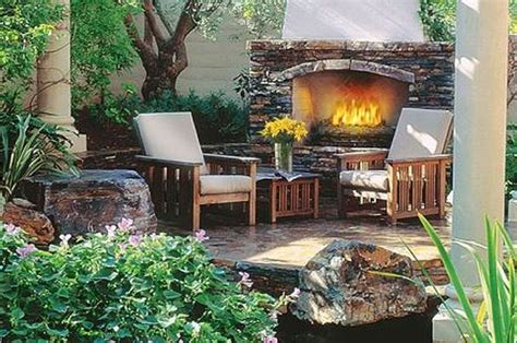 rustic landscaping ideas  front yard garden post