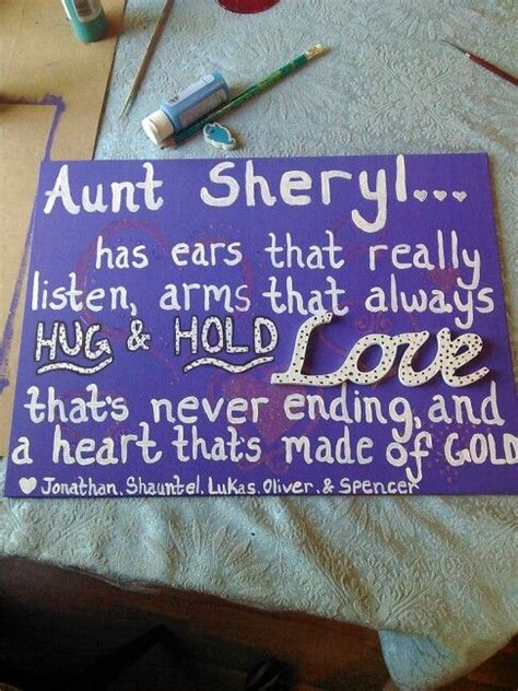mothers day gift   aunt sheryl aunt gifts diy