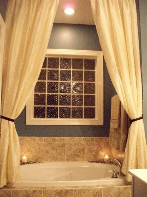Bathroom Window Decorating Ideas by The Idea Of Putting Curtains Tub Bathroom In