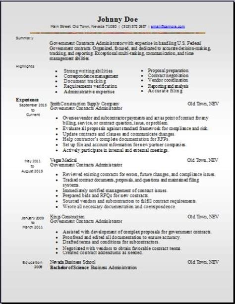 Government Resume Template by Government Resume Occupational Exles Sles Free