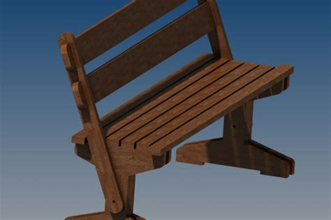 wood bench design guide   woodworking  inventor