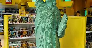 Fao Schwartz Statue Of Liberty Made Out Of Legos New