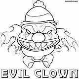 Clown Scary Coloring sketch template