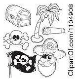 Tree Chest Treasure Coloring Clipart Clip Outline Palm Clipartof sketch template