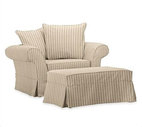 chair and a half slipcover charleston chair and a half slipcover colby stripe khaki