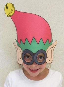 christmas elf sentence strip hat mask  tracy parker tpt