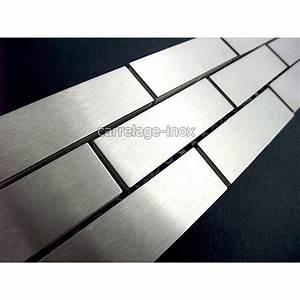 Frise Carrelage Sol : listel inox mosaique carrelage frise acier metal brique 64 ~ Melissatoandfro.com Idées de Décoration