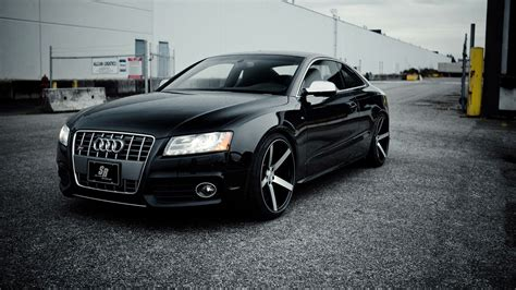 black audi audi rs5 blacked out wallpaper
