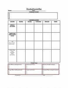 printable lesson plan template nuttin39 but preschool With lesson planning sheet template