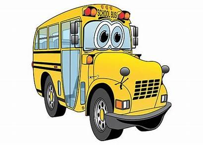 Bus Cartoon Clipart Yellow Clip Short Cliparts
