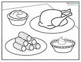 Thanksgiving Coloring Pages Dinner Lovetoknow Sheets Read sketch template