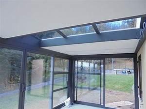 Veranda Verriere : veranda toiture plate avec verriere v randa valence c ~ Melissatoandfro.com Idées de Décoration