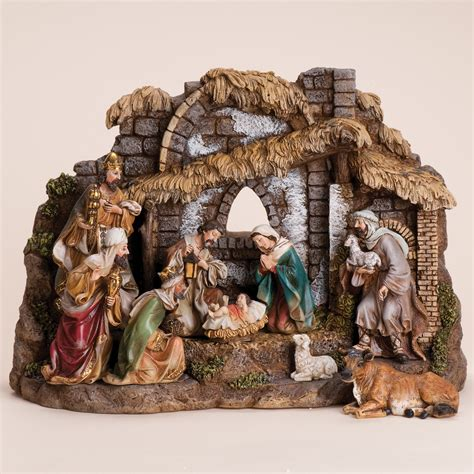 decor nativity sets for sale with base figureness plus