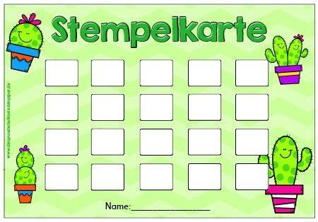 stempelkarten werden  vielen klassenzimmern als