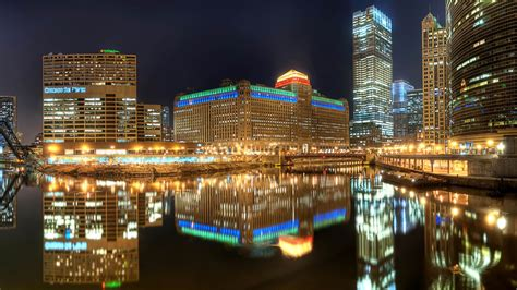 Chicago Night Light Hd Wallpapers  New Hd Wallpapers