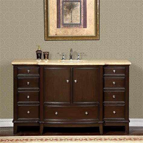 60 inch travertine stone counter top bathroom single sink